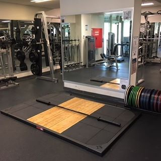 Our weightlifting platform provides great value at $1150 (retail) and years of lifting. #weightliftingplatform #serioustraining #ironedge